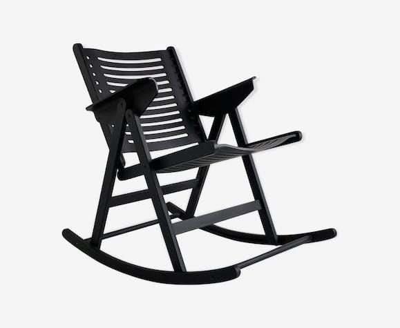 "Rocking chair pliant ""Rex"" en frêne noir de Niko Kralj"