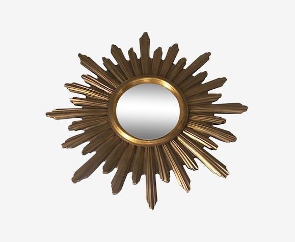 Miroir soleil de sorcière bombé vintage 60 53x53cm