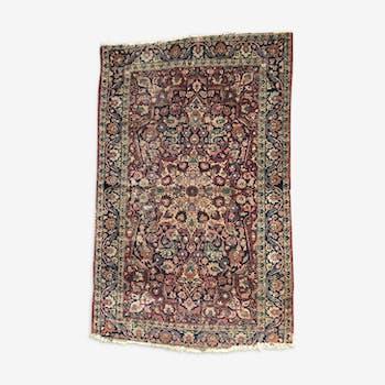 Tapis ancien Persan Mashhad fait main en laine 104x163cm