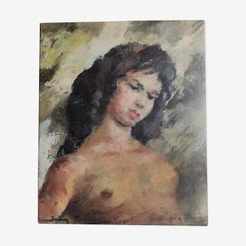 "Portrait à huile ""Michèlle ma belle"" Igor Talvwnski"