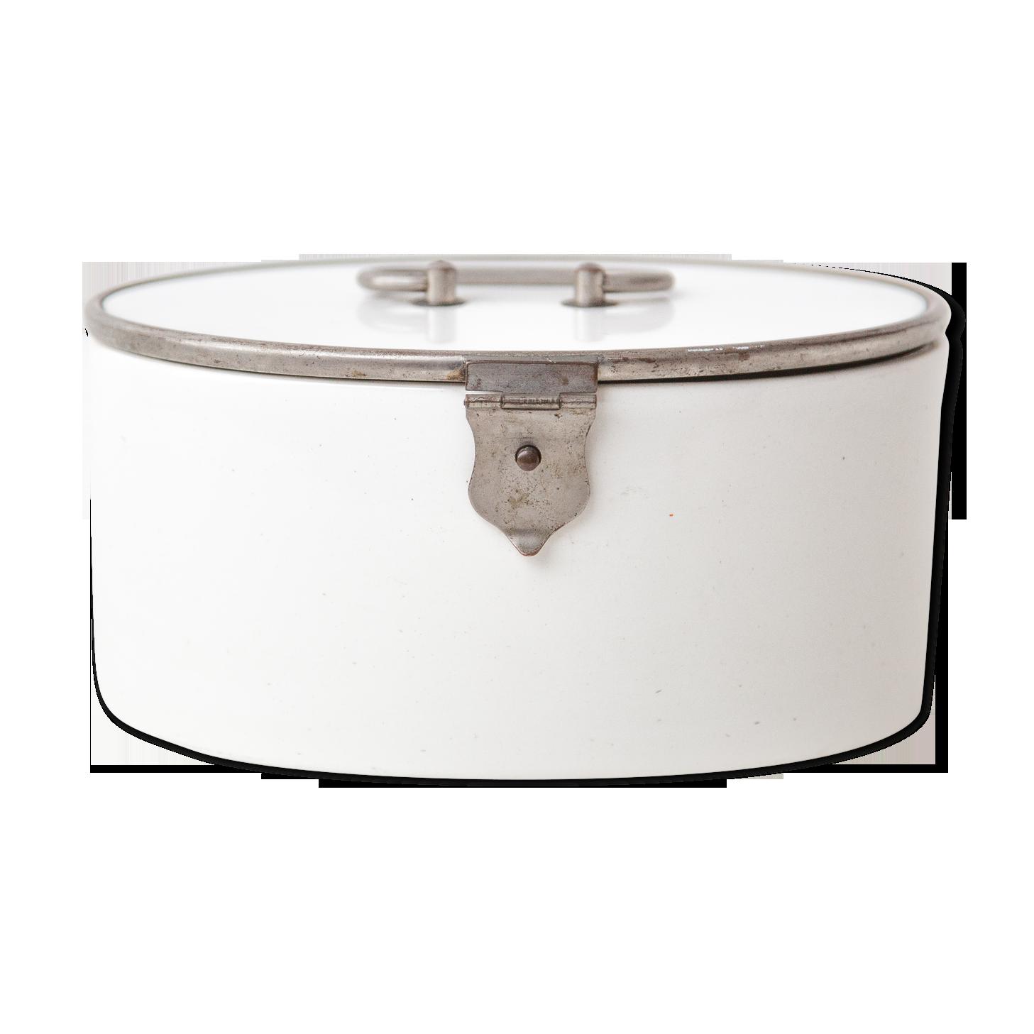 """Blanc rétro années 1950 style /""""biscuit/"""" de rangement cuisine tin"""