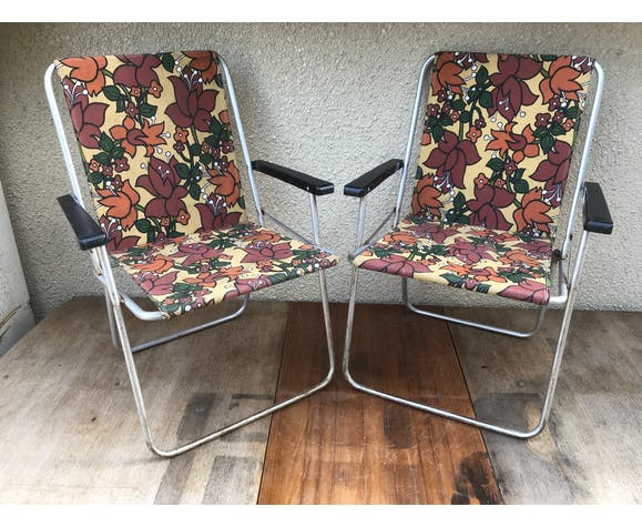 Pair of ancient folding chairs