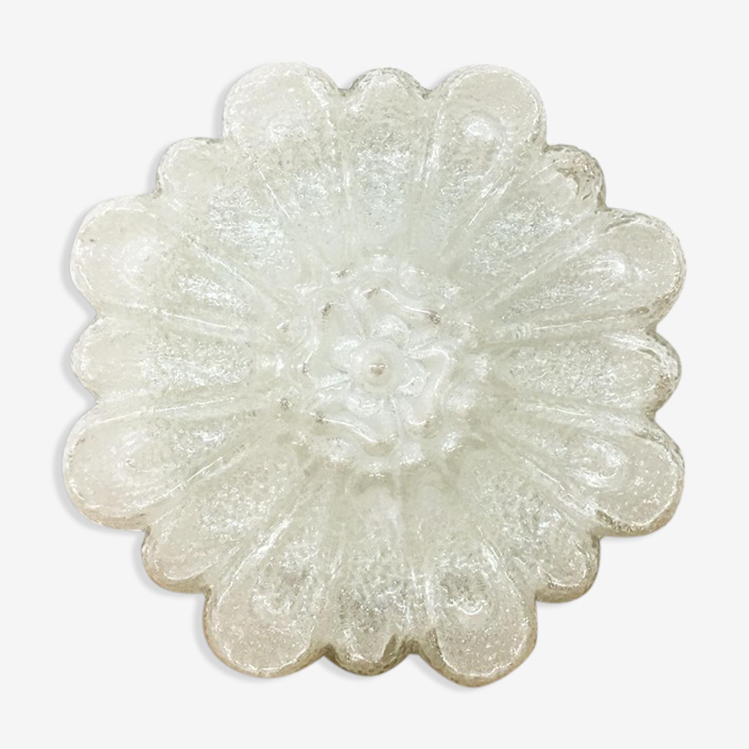 Plafonnier verre forme fleur 1960