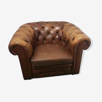 Fauteuil chesterfield cuir