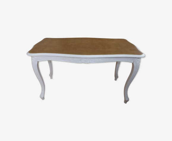 Coffee table Louis XV style - wood - white - classic - P0i7ITX