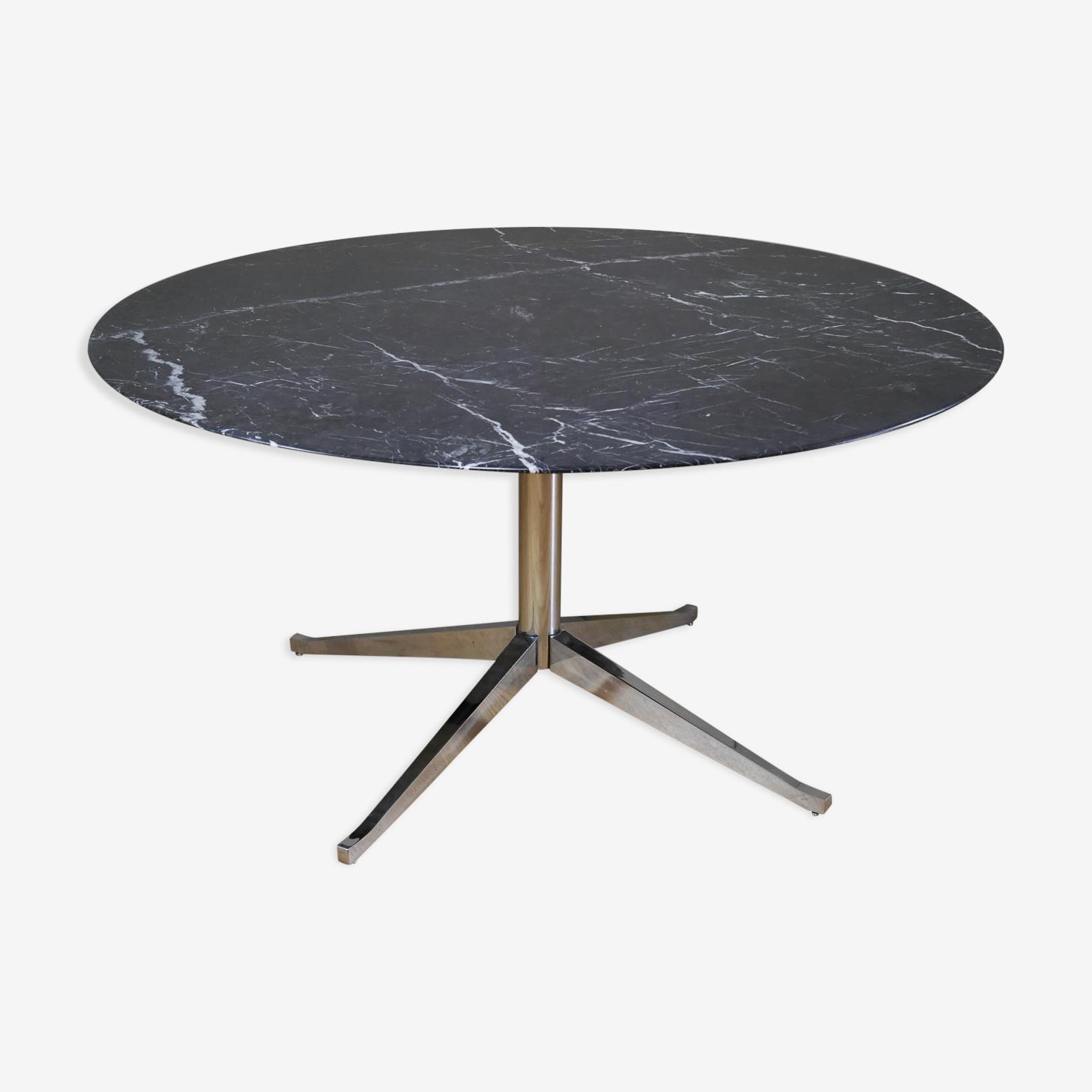 Table de Florence Knoll en marbre noir