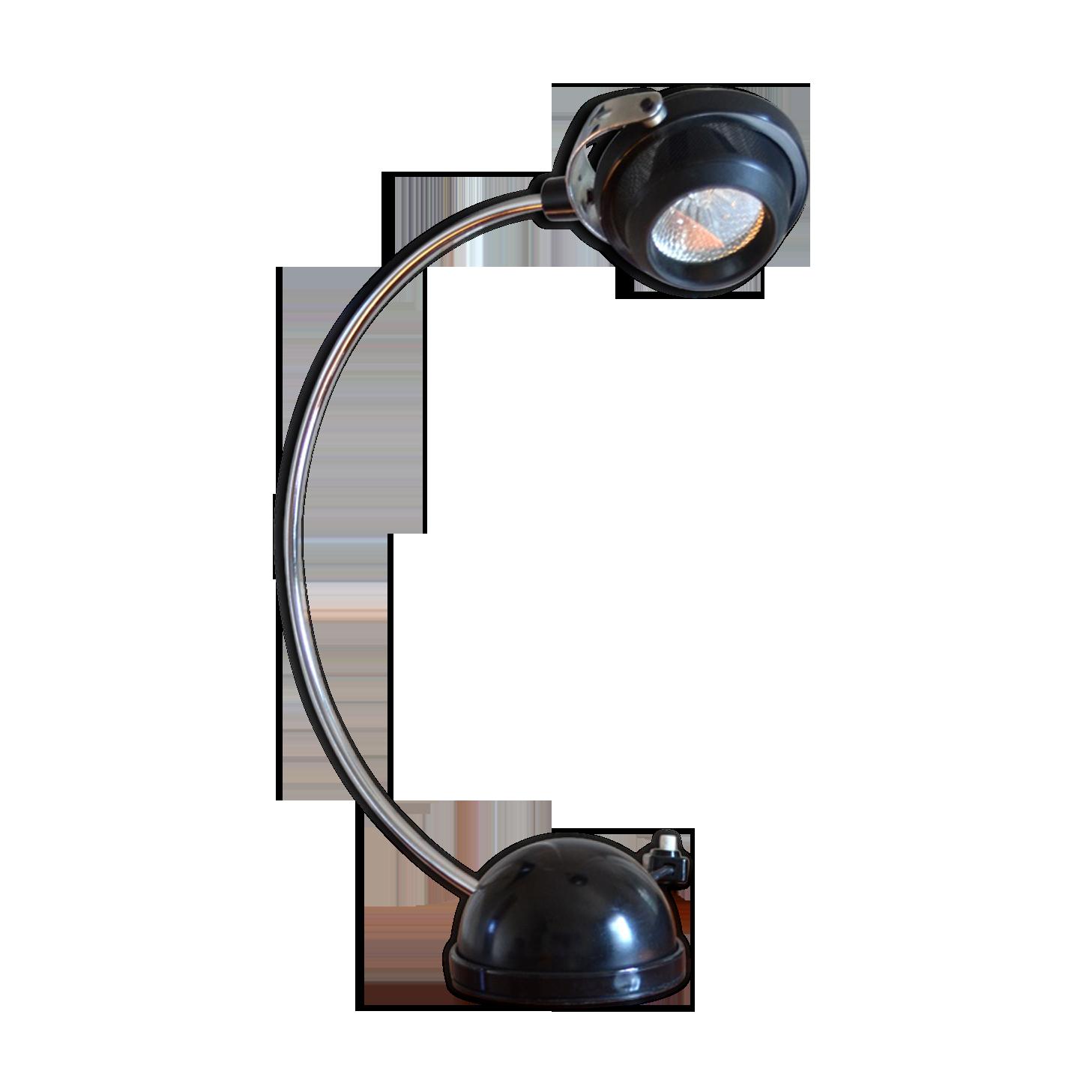 Lampe de bureau fin des années métal noir vintage nqlzsgs
