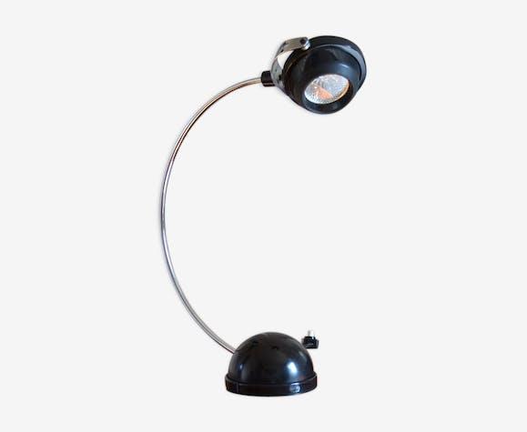 Lampe de bureau fin des années 70 métal noir vintage nqlzsgs