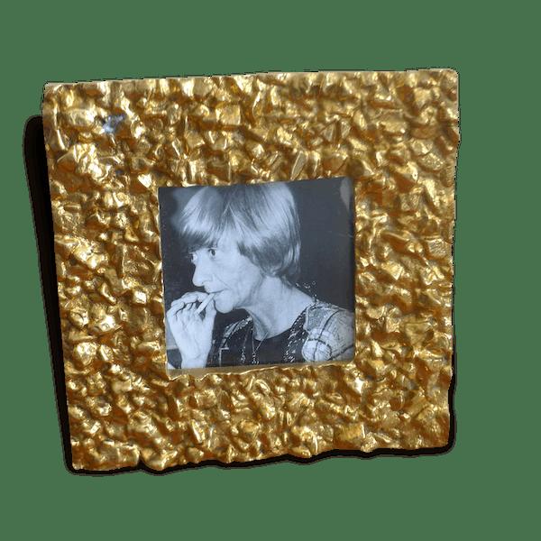 Petit Cadre Art Déco Doréhabitat Vintage Brass Golden Art