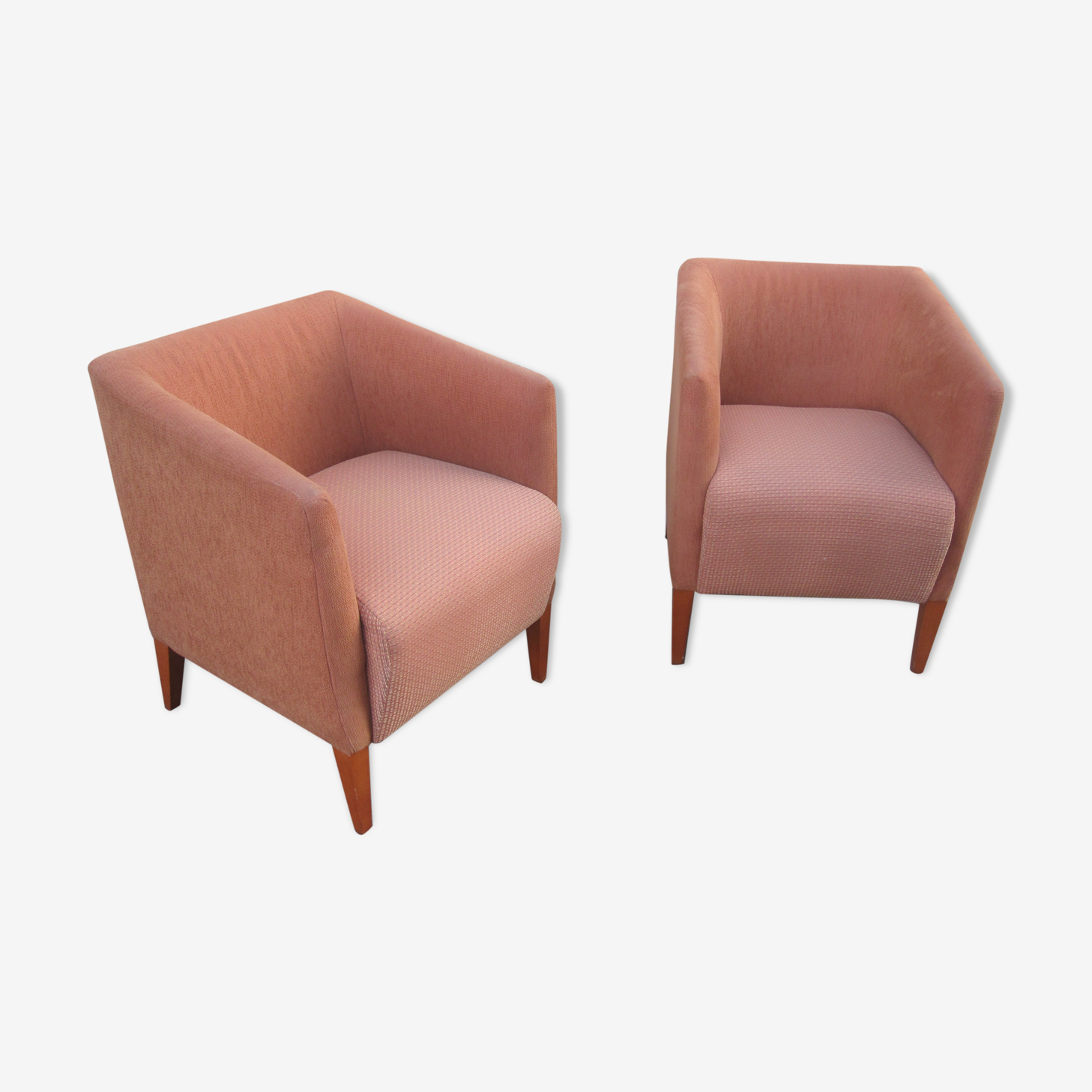 Pair of club style armchairs