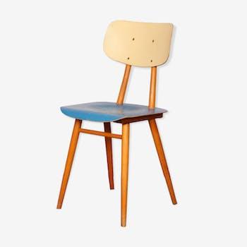 Chaise vintage en bois par le fabricant tchèque Ton 1960