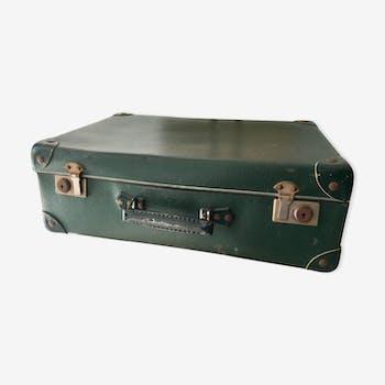 Vintage reinforced cardboard suitcase