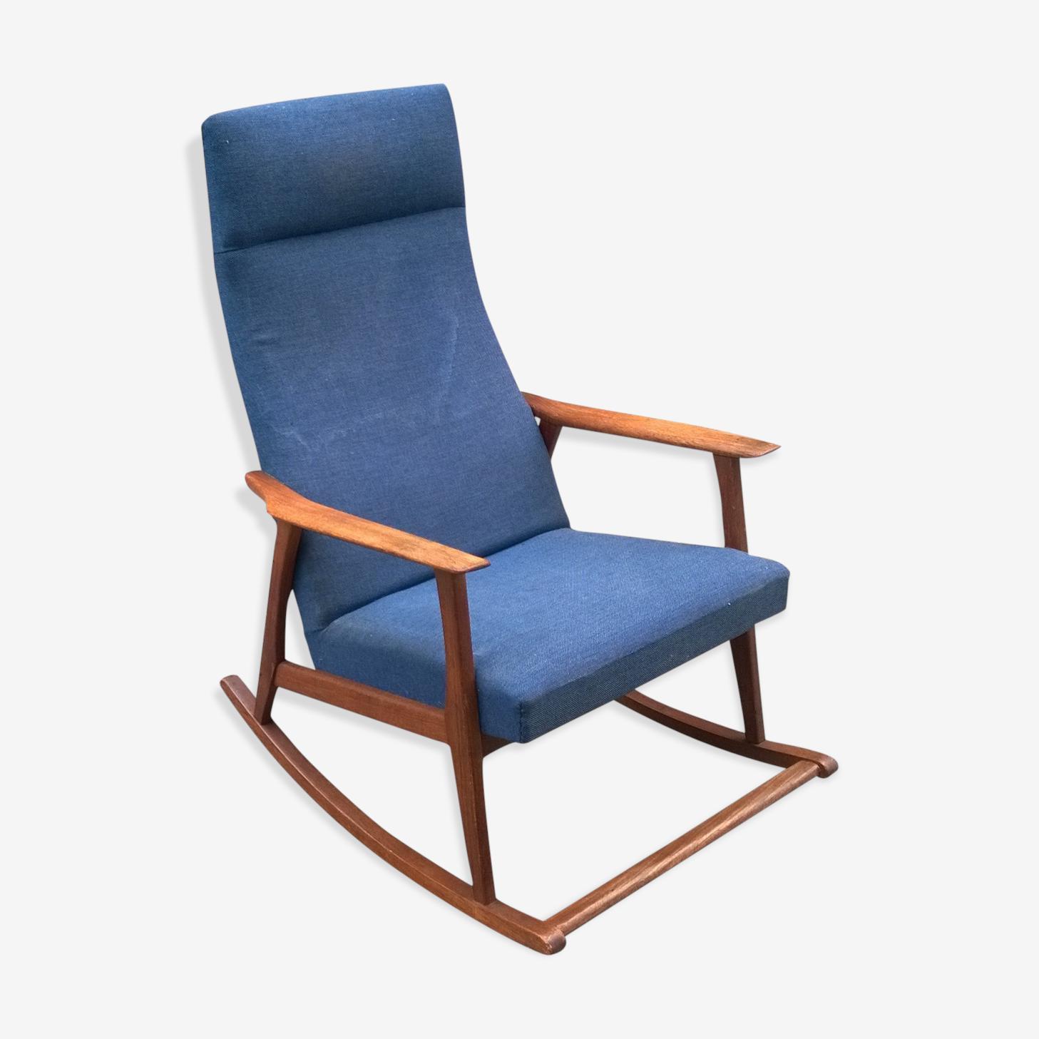 Rocking chair scandinave en teck