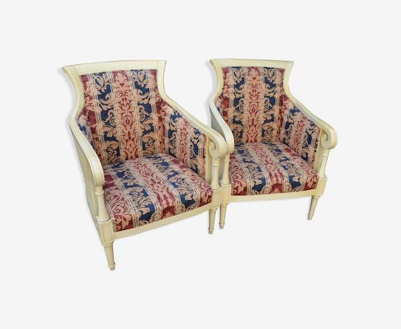 Paire de fauteuils anglais