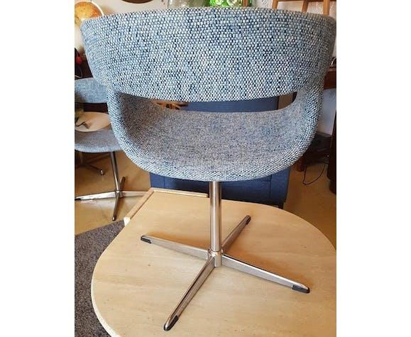 Série de 6 fauteuils années 60 pivotants
