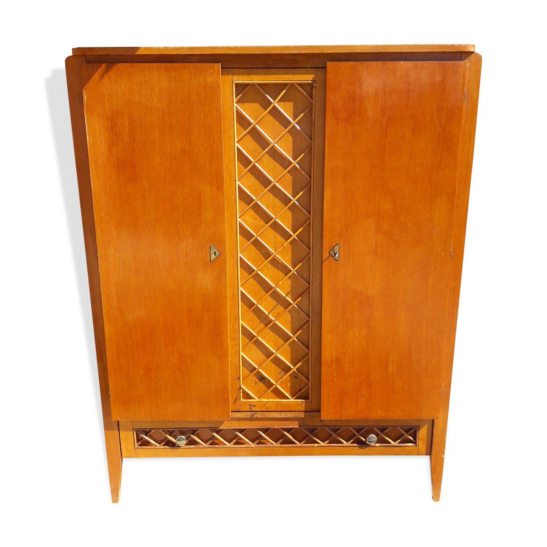 armoire en rotin - bois (matériau) - bois (couleur) - vintage - rni2gd3