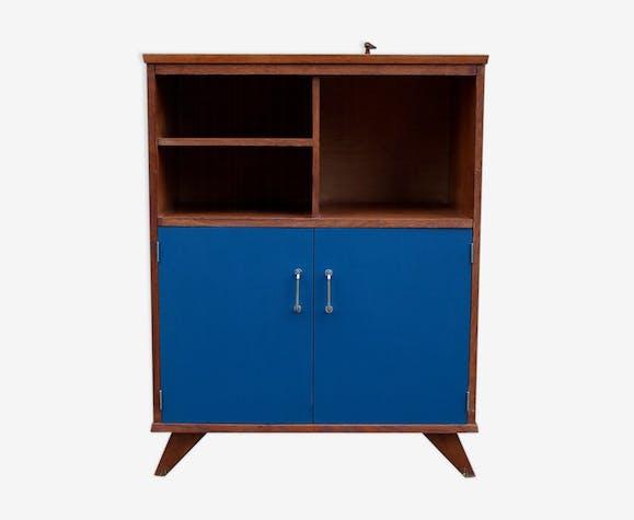 buffet vaisselier vintage ann es 50 60 bois mat riau. Black Bedroom Furniture Sets. Home Design Ideas