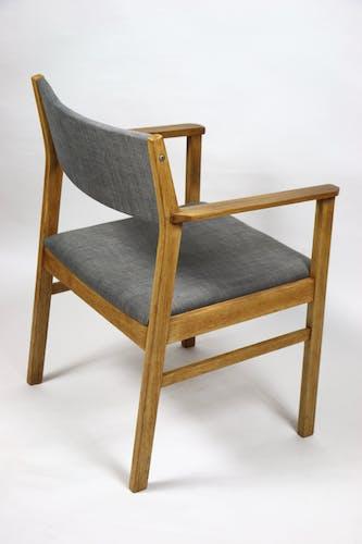 Chaise en lin gris années 1970