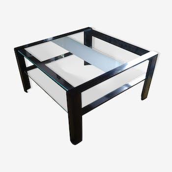 Table basse design Artelano en verre et métal