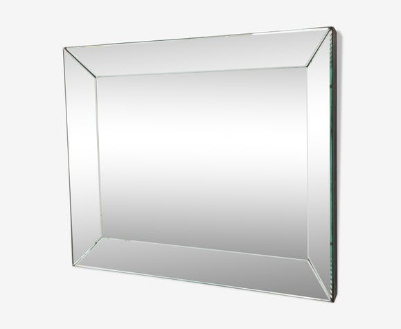 Art deco beveled mirror, 86x69cm