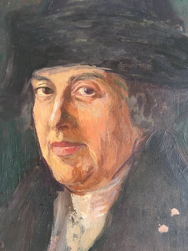 Oil portrait of a wealthy man in the 1920s
