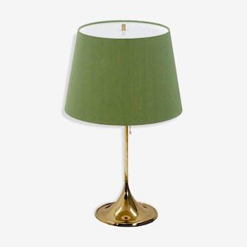 Lampe de table avec abat-jour vert années 1960