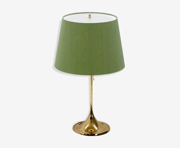 Lampe De Table Avec Abat Jour Vert Annees 1960 Selency