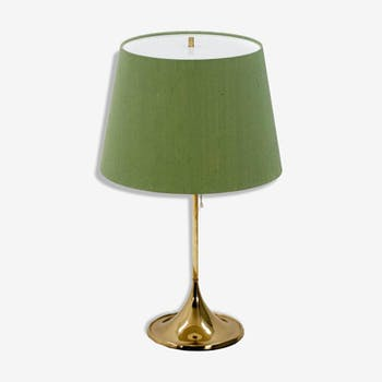 Table lamp with shade green years 1960