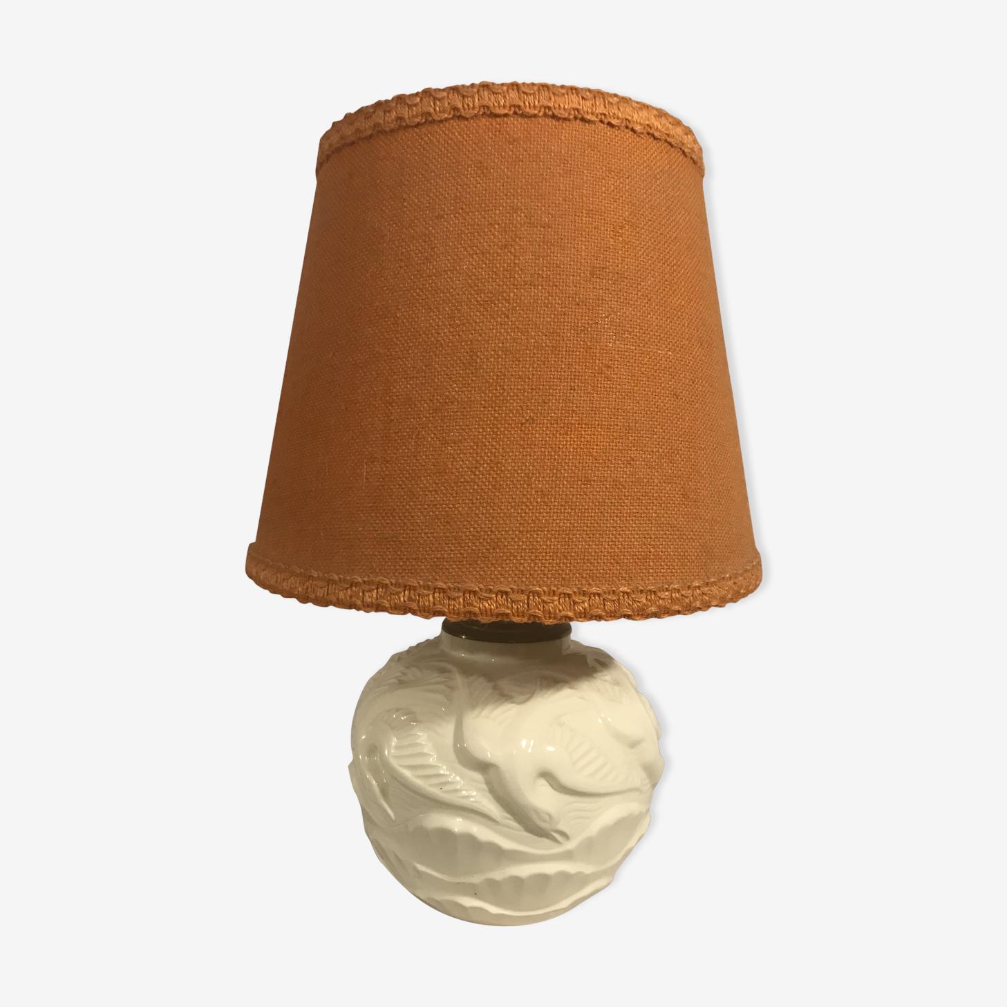 Old vase art deco ceramic cream ball lamp