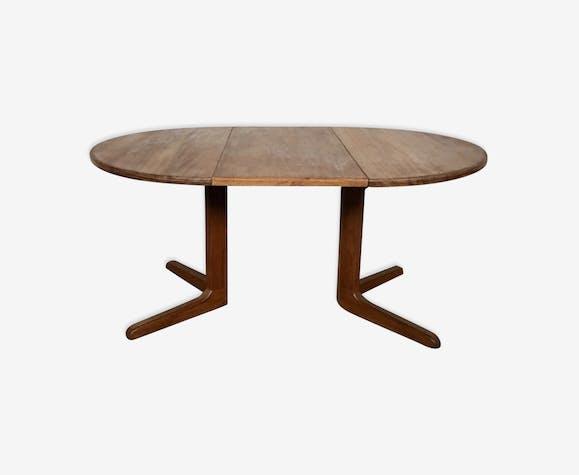 Ronde Années Extensible Teck Vintage En Boismatériau Table 1960 0O8ymnwvN