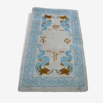 Tapis Laine moelleux fait main - décor sinisant - dragon - Chine, 160x95