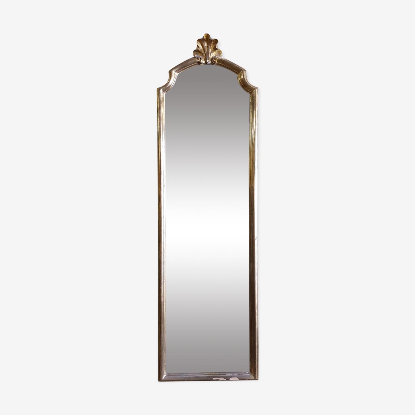 Miroir en bois doré moderne XXème 115x34cm