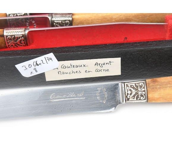 Coffret de 24 couteaux en métal argenté