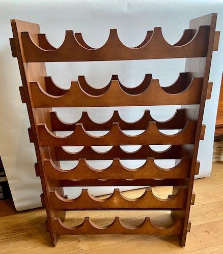 Porte bouteilles en bois 24 compartiments
