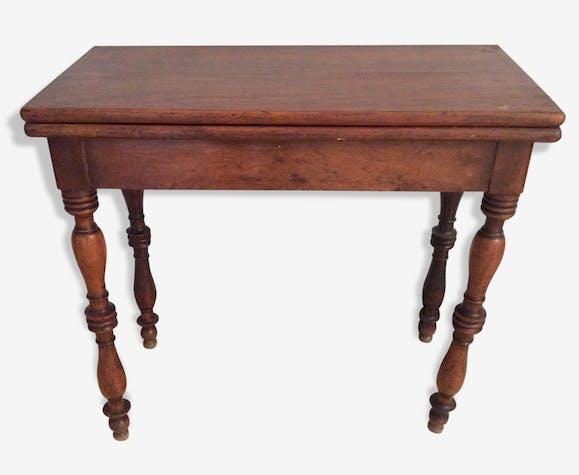 Console table de jeux ancienne en bois bois mat riau bois couleur classique 75345 - Ancienne console de jeux ...