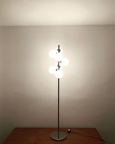Lampadaire Spoutnik par Kaiser Leuchten