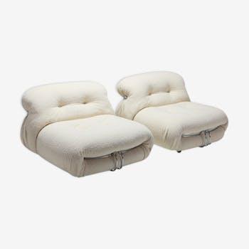 Paire de fauteuils Soriana