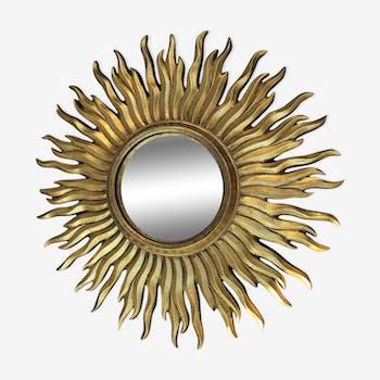 Sun witch in resin mirror 50x50cm