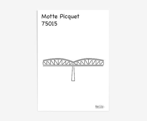 """Illustration, """"Motte Picquet"""" Paris"""