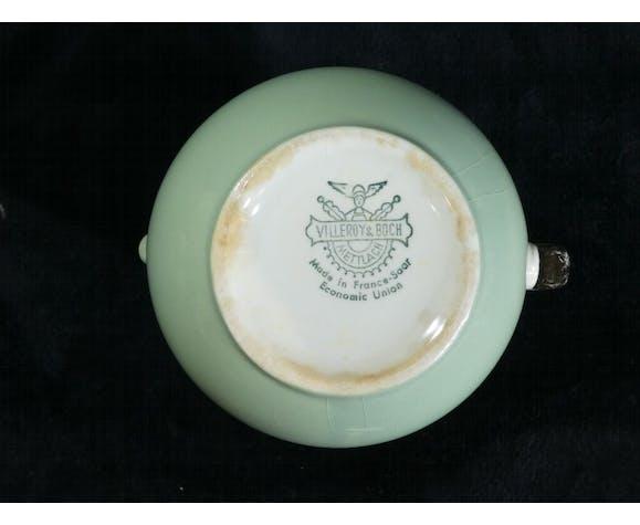 Solitaire service a café / thé Villeroy & Boch vintage vert