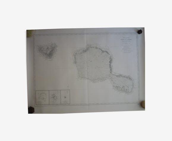Map ocean pacific - tahiti and moorea