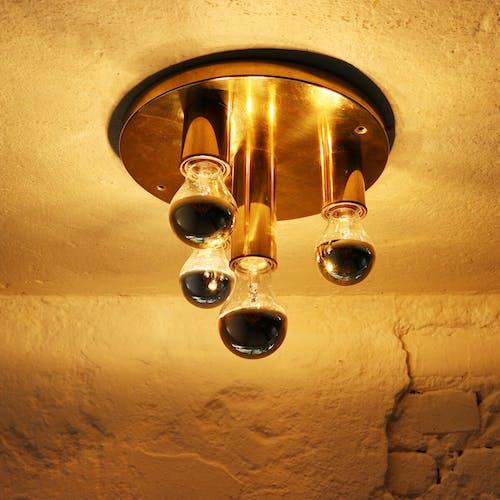 Brass ceiling lamp 70