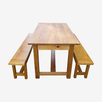 Ensemble table et banc de salle à manger
