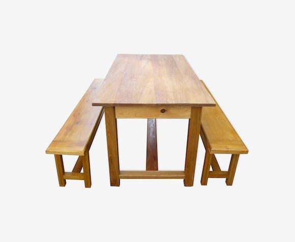 Ensemble Table Et Banc De Salle à Manger Bois Matériau Bois