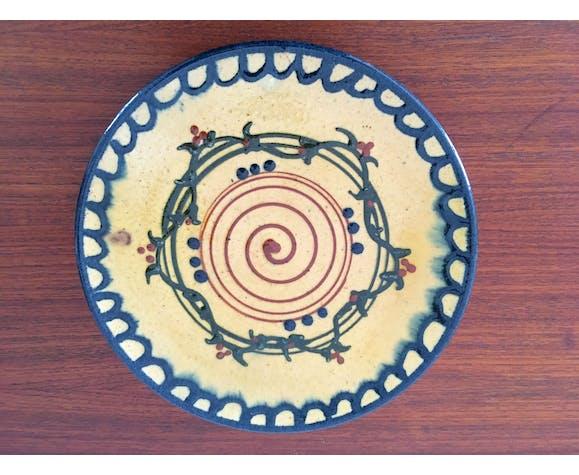 2 assiette Vallauris en céramique vintage