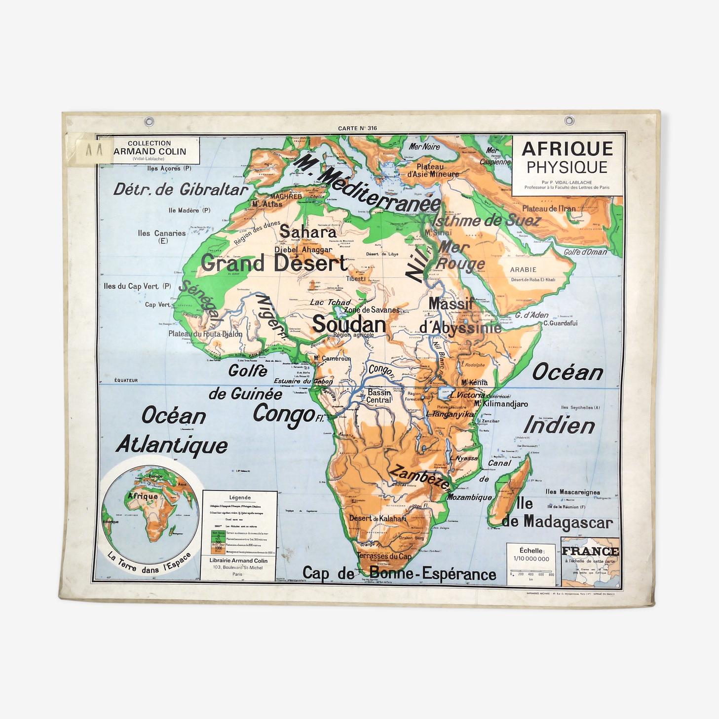 Vidal-Lablache Africa map