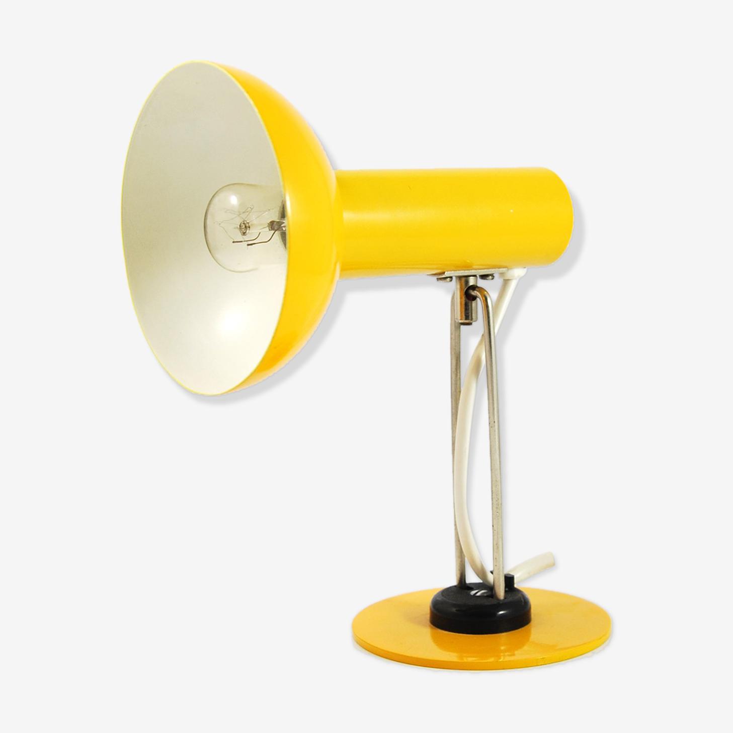 Lampe De Bureau Jaune Aka 3653 Allemagne Des Annees 70 Metal