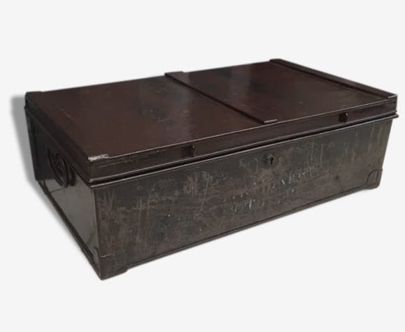 revendeur 9f00b 4fab8 Ancien coffre militaire en métal 1914