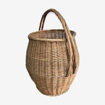 Vintage wicker basket 70 cm