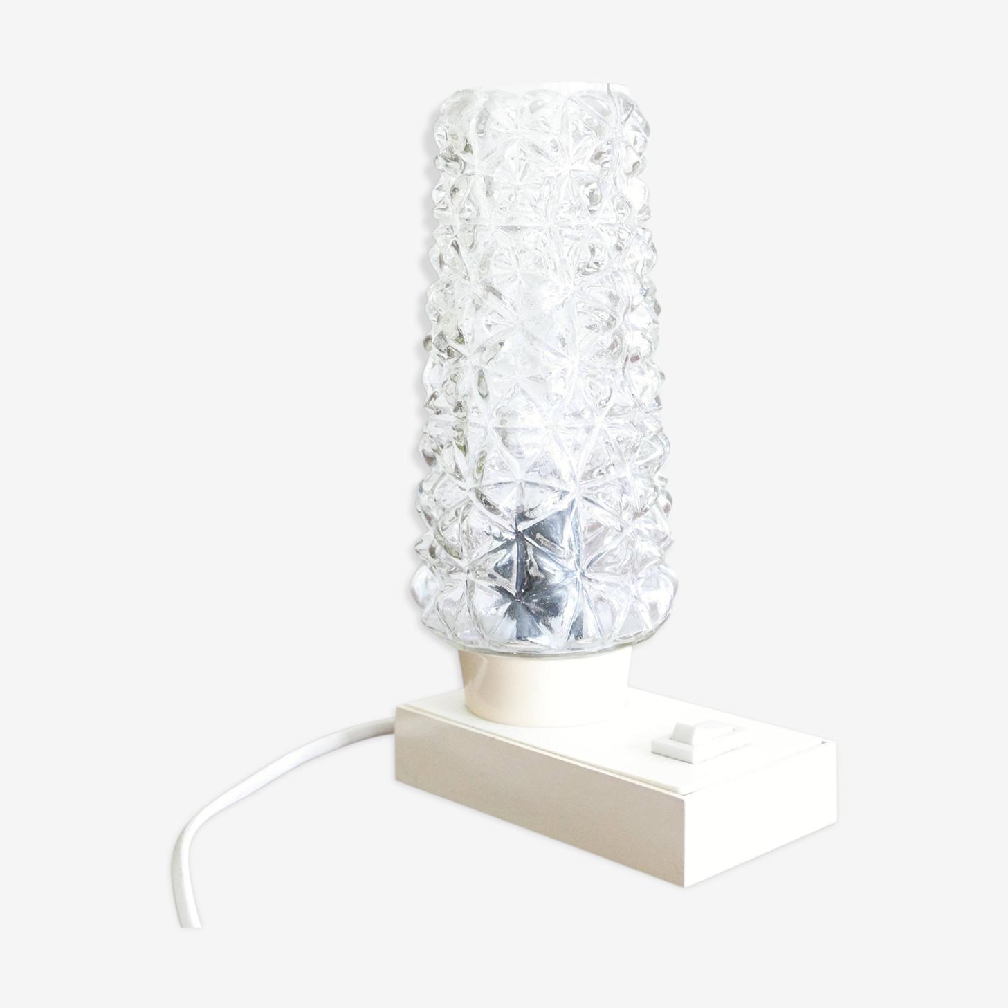 Lampe de chevet, veilleuse base blanche hawill, années 60